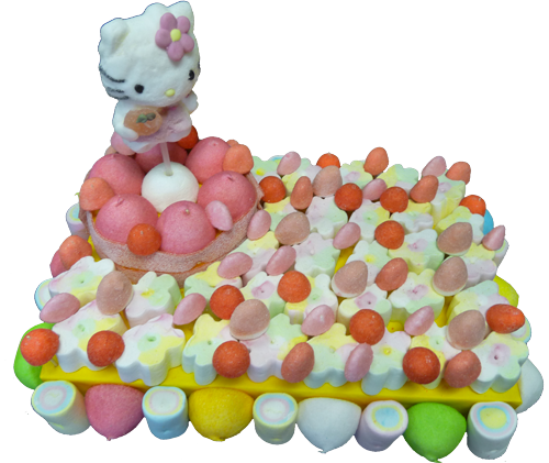 composition de bonbons Hello kitty anniversaire