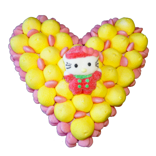 Coeur bonbons noel hello kitty