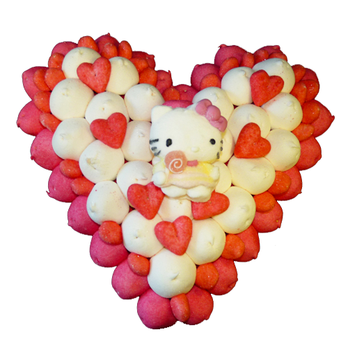 Coeur Rouge Bonbons Hello Kitty
