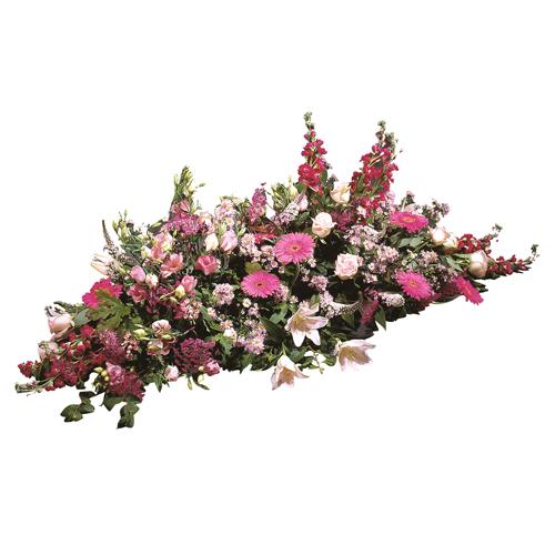 Paisible raquette fleurs deuil classique compos e de for Livraison fleurs paypal