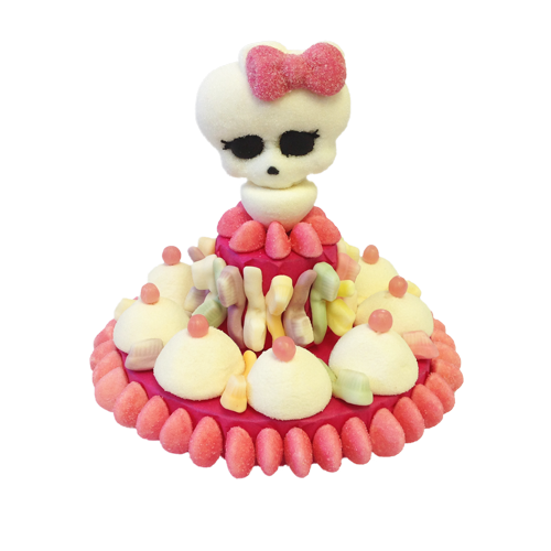 tarte monster high blanche et rose