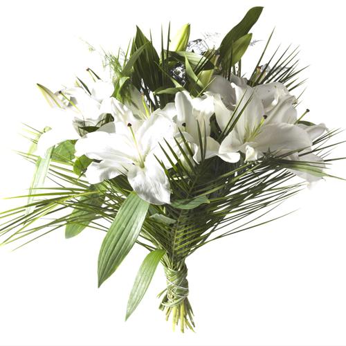 Offrir fleur lys blanc for Bouquet de fleurs 123