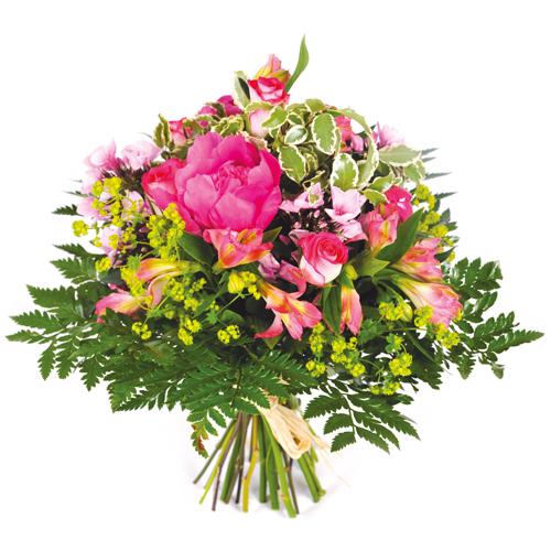 Bouquet rond champetre tons rose livraison de fleurs for Livraison fleurs paypal