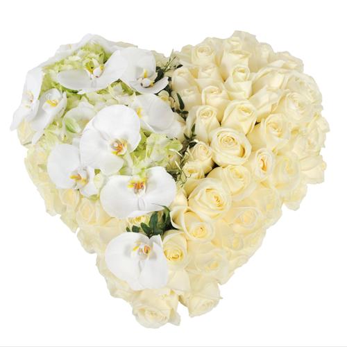 les coeurs fleurs deuil